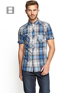 goodsouls-mens-short-sleeve-double-pocket-check-shirt
