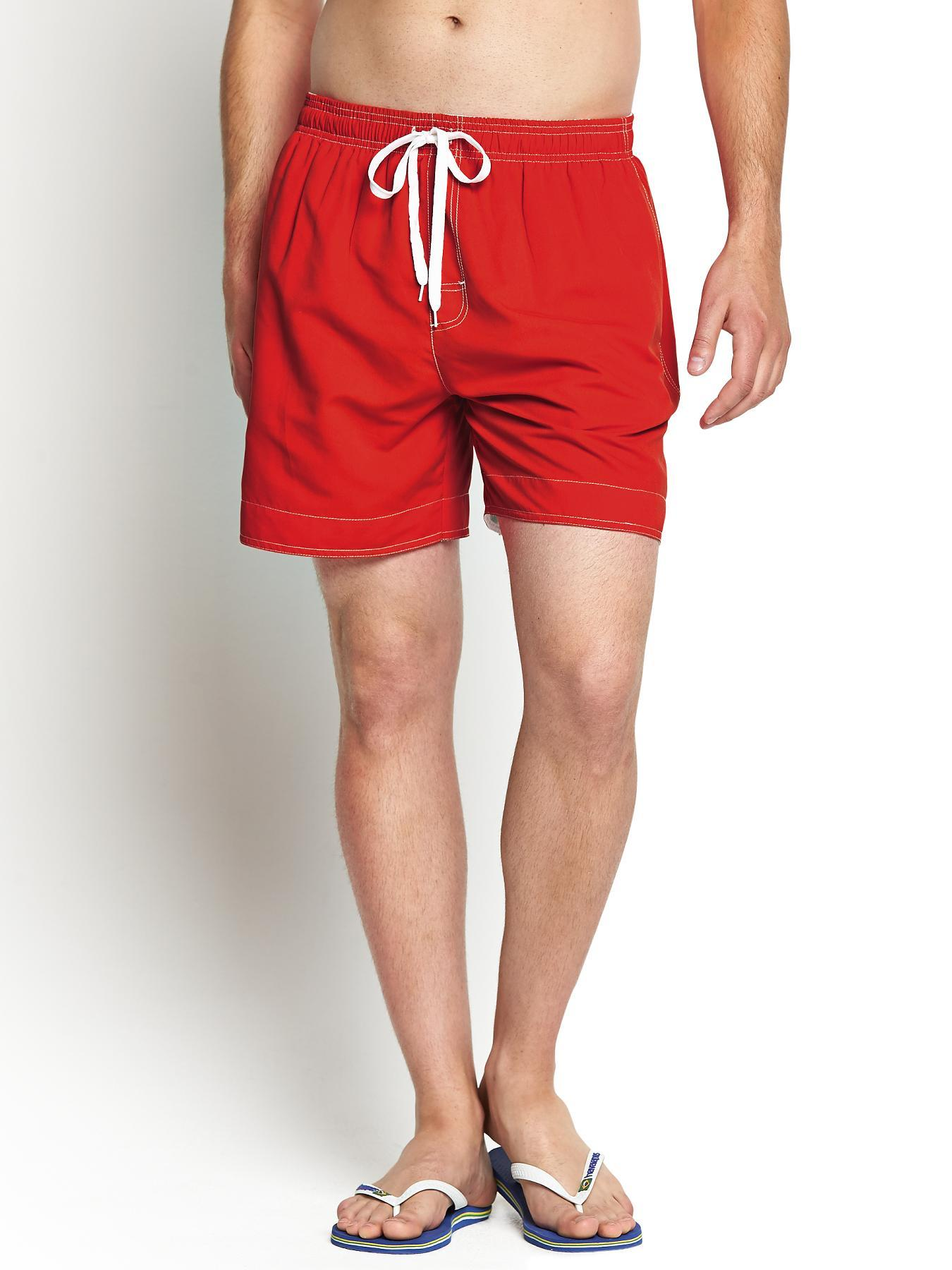 Mens Swim Shorts, Red