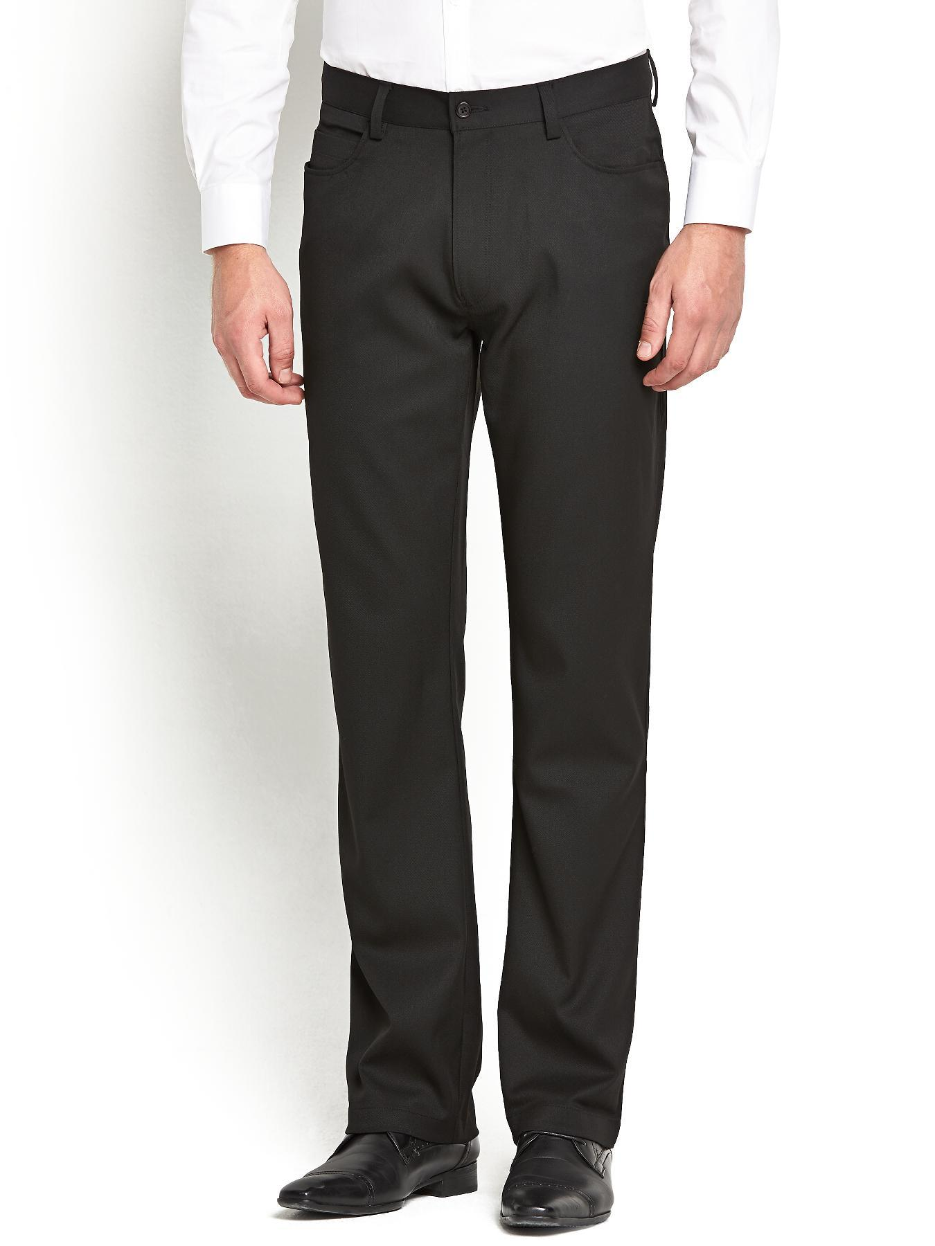 Mens 5 Pocket Trousers, Black