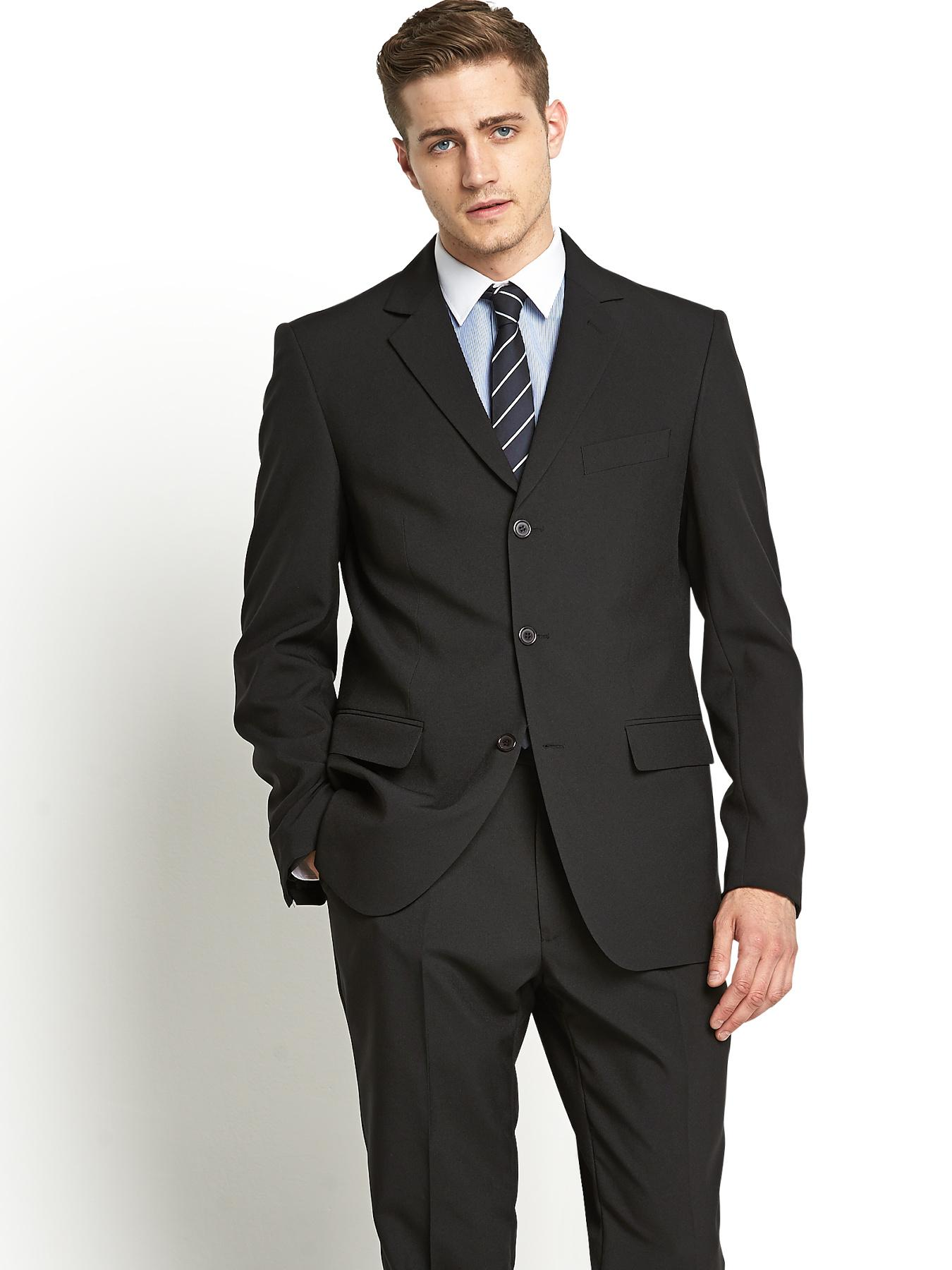 Mens Single Breasted Suit Jacket Regular fit, Black