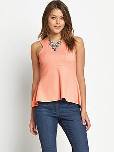 love-label-fit-and-flare-textured-top