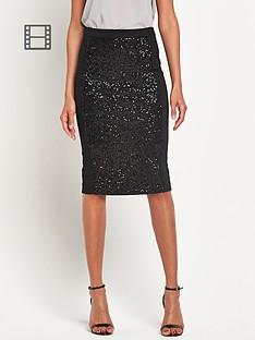 sequin-panel-skirt