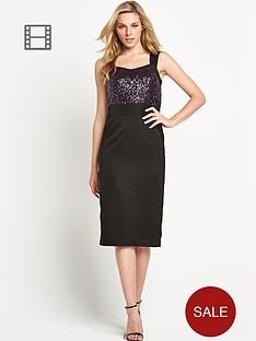 sequin-bodice-pencil-dress