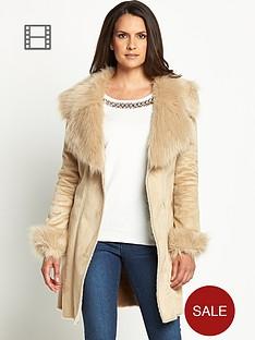 savoir-longline-shearling-look-coat