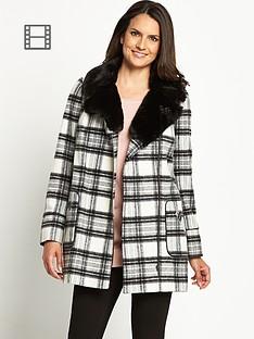 savoir-fur-trim-check-coat