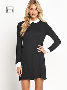 south-collar-knit-dress