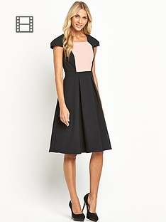 cap-sleeve-fit-and-flare-dress