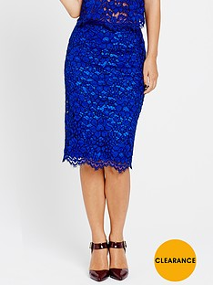 myleene-klass-heavy-lace-pencil-skirt