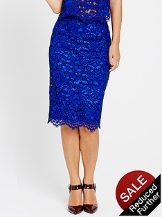 myleene-klass-heavy-lace-pencil-skirt