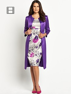 floral-printed-dress-and-coat-suit