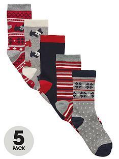 intimates-essentials-scotty-dog-fairisle-socks-5-pack