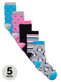 intimates-essentials-xmas-penguin-socks-5-pack