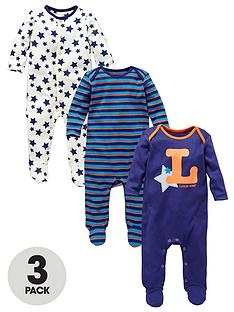 baby-boys-3-pack-little-star-sleepsuits