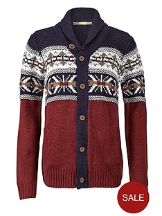 patterned-toggle-button-cardigan