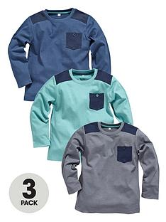 ladybird-boys-pack-3-denim-trim-tops