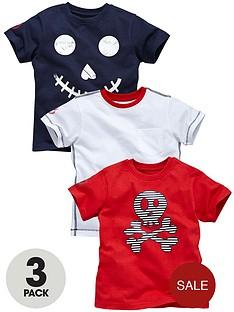 ladybird-boys-pack-3-skull-tshirts-from