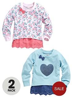 girls-2pk-floralsequin-frill-hem-sweat-tops-12m-7y
