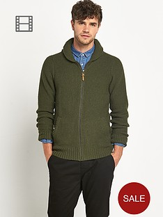 goodsouls-mens-shawl-zip-cardigan-green