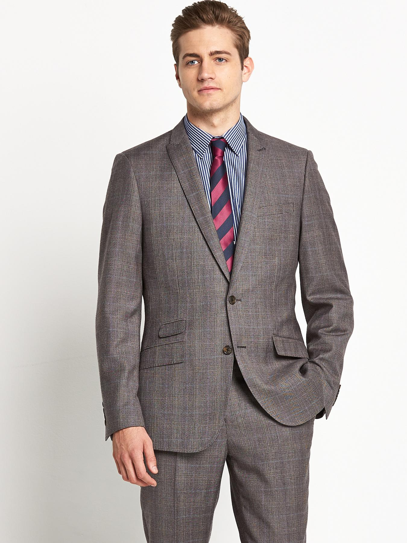 Mens Peak Lapel SB2 Jacket, Grey