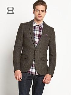 check-wool-mix-jacket