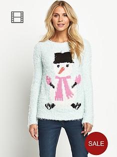christmas-snowman-eyelash-jumper