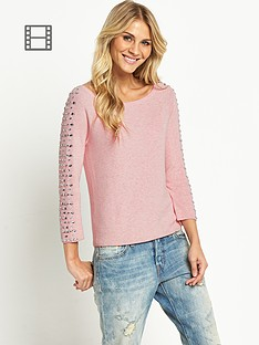 embellished-sleeve-jumper