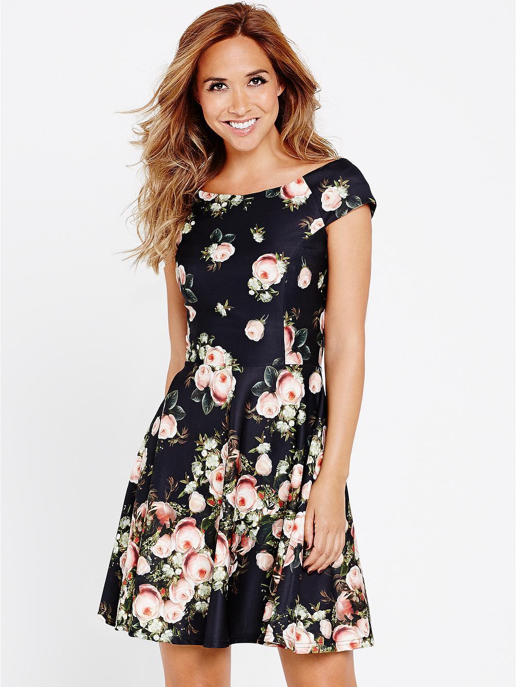 e53586c1e7 Myleene Klass looks pretty in floral mini dress | Daily Mail Online