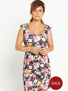 coleen-floral-print-sweetheart-dress
