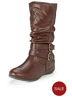 shoe-box-dolly-double-buckle-casual-flat-boots