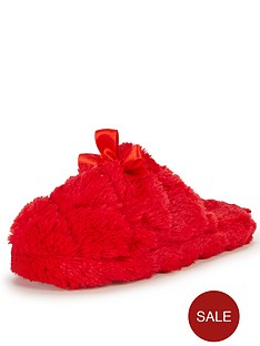 pippy-fluffy-bow-front-slipper-mule-red