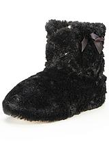 Evie Fluffy Slipper Boots