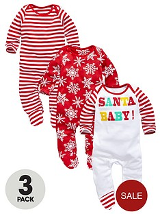 3-pack-unisex-santa-baby-sleepsuits
