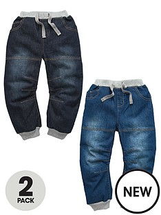 ladybird-boys-cuffed-denim-jeans-2-pack