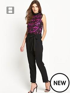 petite-contrast-lace-jumpsuit