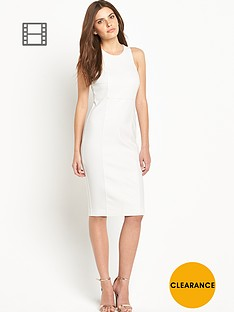 definitions-pu-ponte-panel-dress