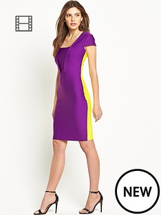 colourblock-bandage-dress
