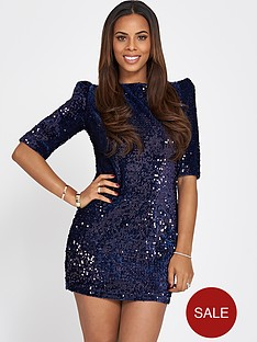 rochelle-humes-sequin-cut-out-back-mini-dress