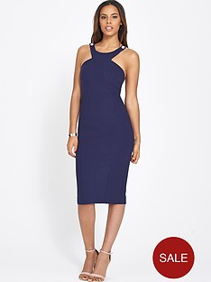 rochelle-humes-contrast-strap-bodycon-dress
