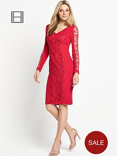 savoir-lace-panel-dress