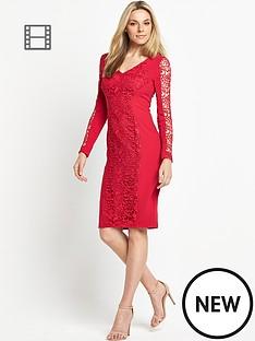 petite-lace-panel-dress
