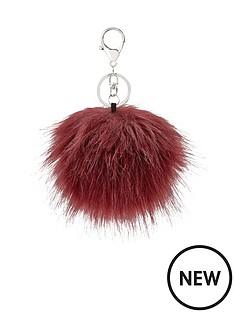 pom-pom-faux-fur-keyring