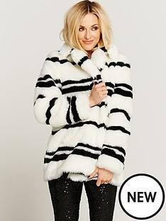 stripe-faux-fur-coat