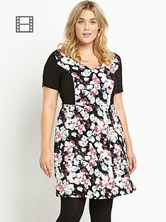 so-fabulous-floral-print-fit-and-flare-crepe-dress