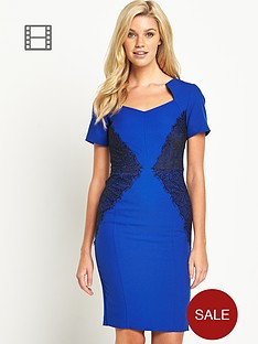 south-lace-panel-cap-sleeved-dress