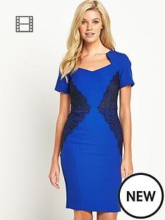 petite-lace-panel-cap-sleeve-dress