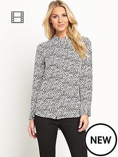 south-printed-button-front-blouse