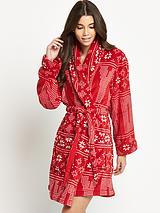 Fair Isle Long Sleeve Robe