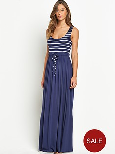 resort-jersey-woven-mix-maxi-dress