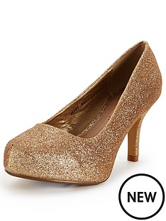 cora-extra-wide-fit-glitter-court-gold