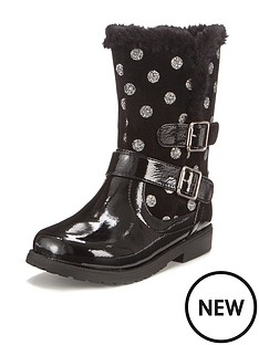 gabby-younger-girls-spotty-cosy-boot